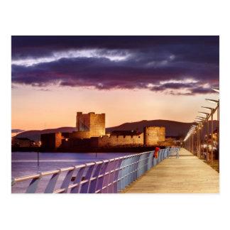 Carrickfergus At Night Postcard