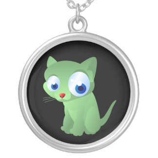 Carrie The Kitty Cat Silver Plated Necklace