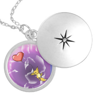 """""""Carried Away by Love"""" Little Kit Locket Necklace"""