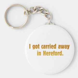 Carried Away Hereford Keychain