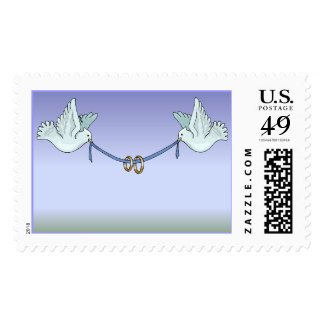 Carrier Doves Clear Blue Sky (5) [CUSTOMIZE] Postage Stamp