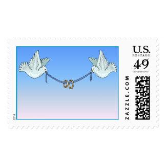 Carrier Doves Crisp Blue Sky (7) [CUSTOMIZE] Postage Stamps