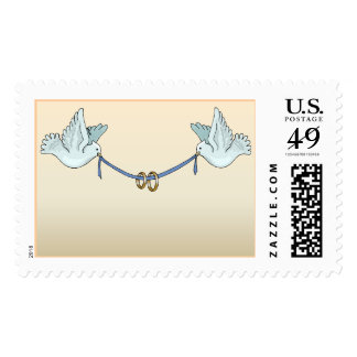 Carrier Doves Sandy Peach (3) [CUSTOMIZE] Postage Stamps