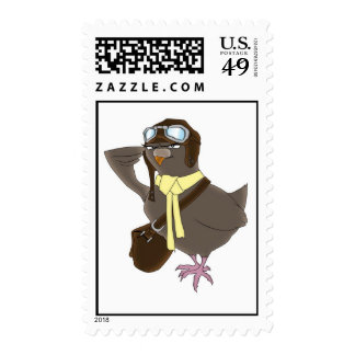Carrier Pigeon Postage Stamp