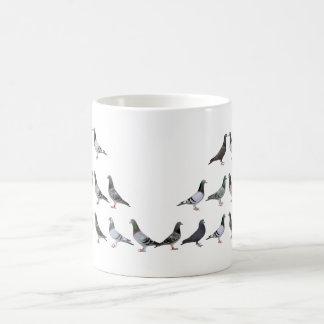 Carrier pigeons champions classic white coffee mug