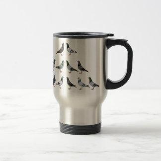 Carrier pigeons champions travel mug