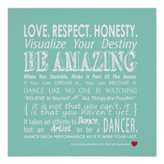 Inspirational Dance Quotes Pleasing Dance Quotes Posters  Zazzle