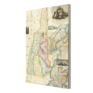 Carrigain Map of New Hampshire Canvas Print