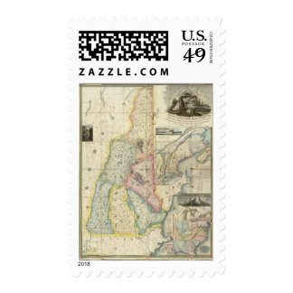 Carrigain Map of New Hampshire Postage