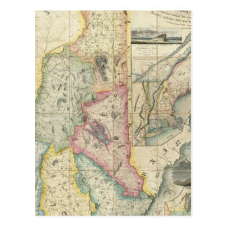 Carrigain Map of New Hampshire Postcard