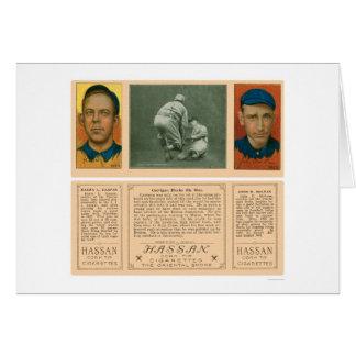 Carrigan Blocks Red Sox Baseball 1912 Card