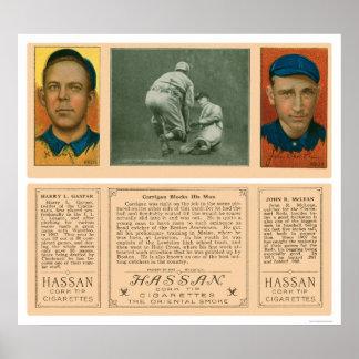 Carrigan Blocks Red Sox Baseball 1912 Poster