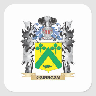 Carrigan Coat of Arms - Family Crest Square Sticker