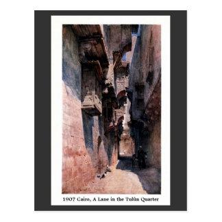 Carril 1900 de El Cairo Egipto del vintage en el Tarjeta Postal