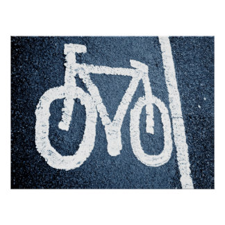 Carril de bicicleta póster