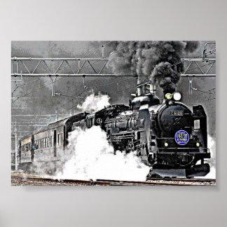 Carril de Japón de los trenes Posters