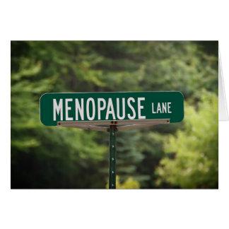 Carril de la menopausia tarjeta de felicitación