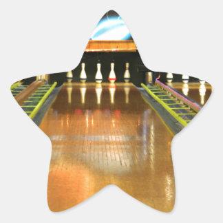Carril de los bolos pegatina en forma de estrella