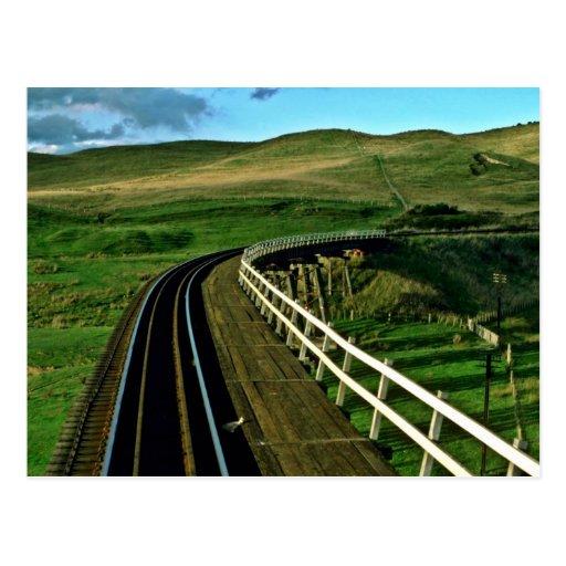 Carril de Nueva Zelanda en el camino a Wellington Postal