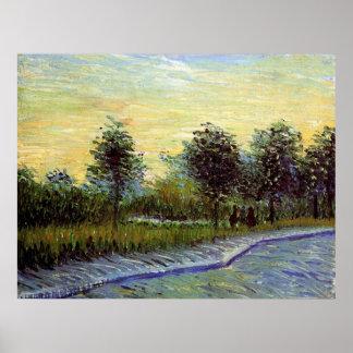 Carril de Van Gogh en parque del d'Argenson de Impresiones