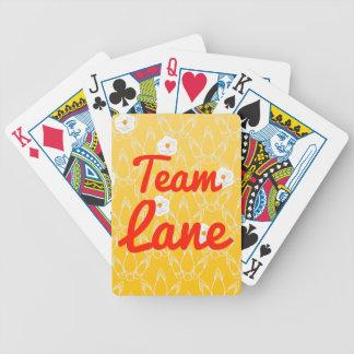 Carril del equipo baraja cartas de poker