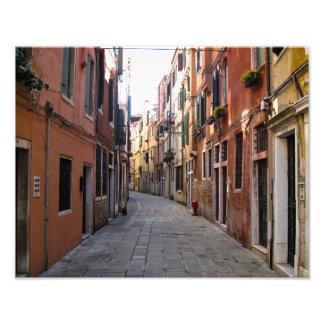 Carril del guijarro en Venecia, Italia - impresión Fotografía