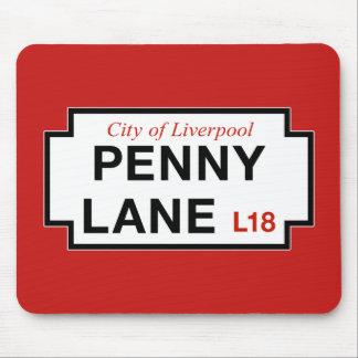 Carril del penique, placa de calle, Liverpool, Alfombrilla De Ratón