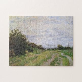 Carril en bella arte de Argenteuil Monet de los Puzzles