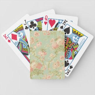 Carril rosado de la flor del Victorian Baraja Cartas De Poker
