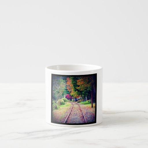 Carril solo taza de espresso