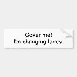 Carriles cambiantes - pegatina para el parachoques pegatina para auto