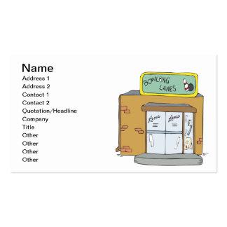 Carriles de los bolos plantilla de tarjeta de visita