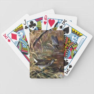 Carriles de Sora en un pantano Baraja Cartas De Poker