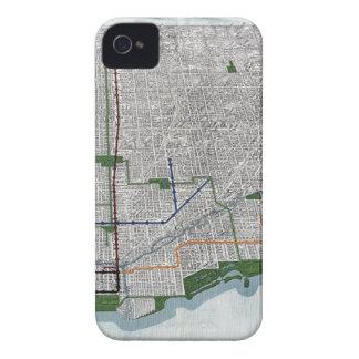 Carriles elevados y los parques de Chicago 1908 iPhone 4 Case-Mate Fundas