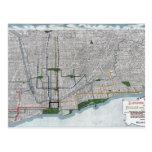 Carriles elevados y los parques de Chicago 1908 Postal