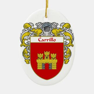 Carrillo Coat of Arms/Family Crest Ceramic Ornament