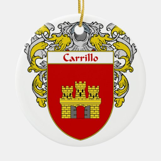Carrillo Coat of Arms/Family Crest Christmas Tree Ornaments