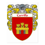 Carrillo Coat of Arms (Mantled) Postcards