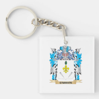 Carrion Coat of Arms - Family Crest Square Acrylic Key Chains