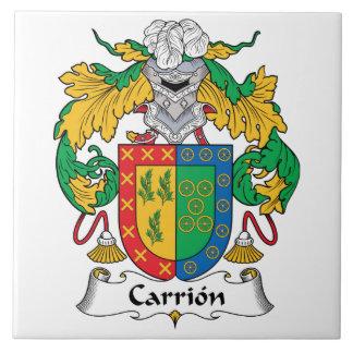 Carrion Family Crest Ceramic Tile