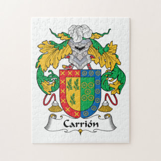Carrion Family Crest Jigsaw Puzzle