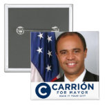 Carrion for Mayor Pinback Buttons