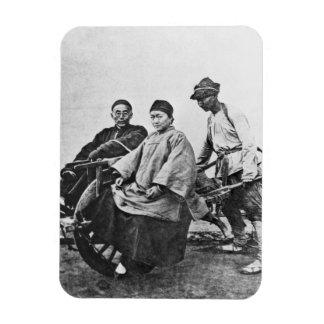 Carrito chino, c.1870 (foto de b/w) imanes de vinilo