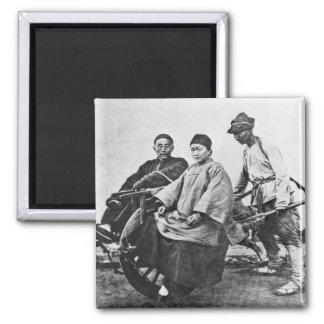 Carrito chino, c.1870 (foto de b/w) imanes
