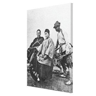 Carrito chino, c.1870 (foto de b/w) lona estirada galerías
