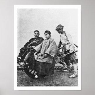 Carrito chino, c.1870 (foto de b/w) póster