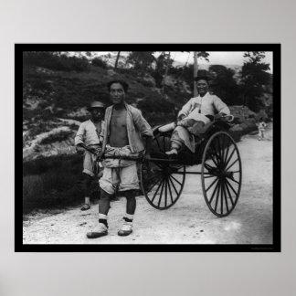 Carrito coreano 1910 del aristócrata póster