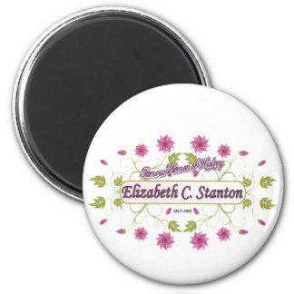 Carrito de Elizabeth del ~ de Stanton/mujeres famo Imán Redondo 5 Cm