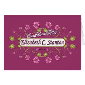 Carrito de Elizabeth del ~ de Stanton/mujeres Tarjeta De Felicitación