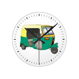 Carrito indio relojes de pared